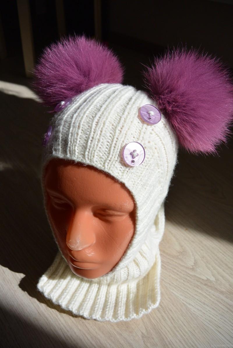 Вязаная спицами шапка-шлем - пошаговое описание как ...