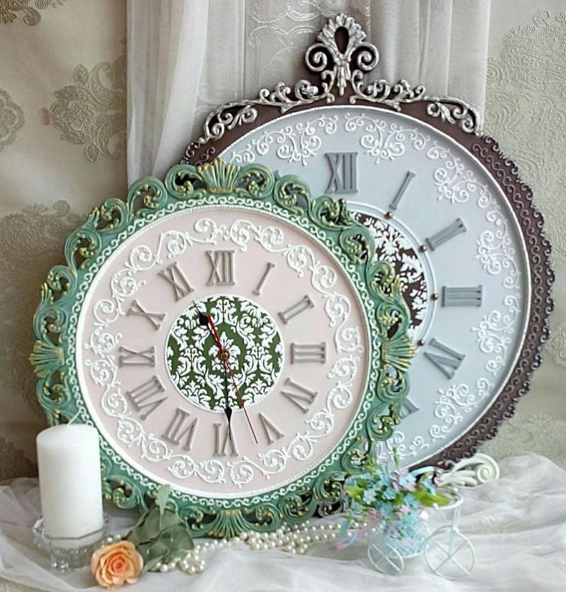 Декорирование настенных часов своими руками фото