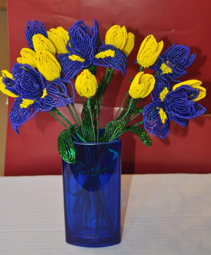 Как сплести тюльпан из бисера