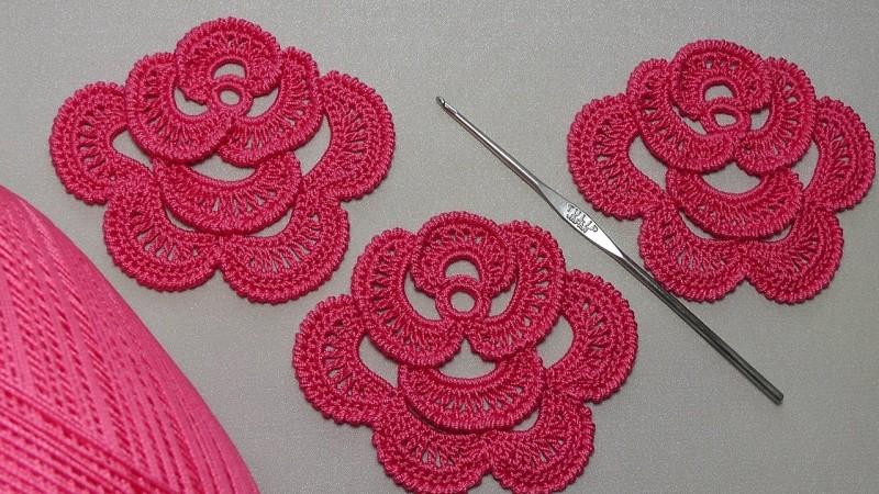 как вязать круглый мотив крючком стильные узоры и техника вязания