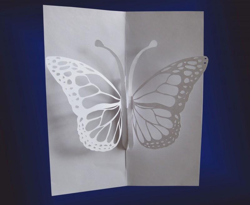 Нарисовать, объмные открытки