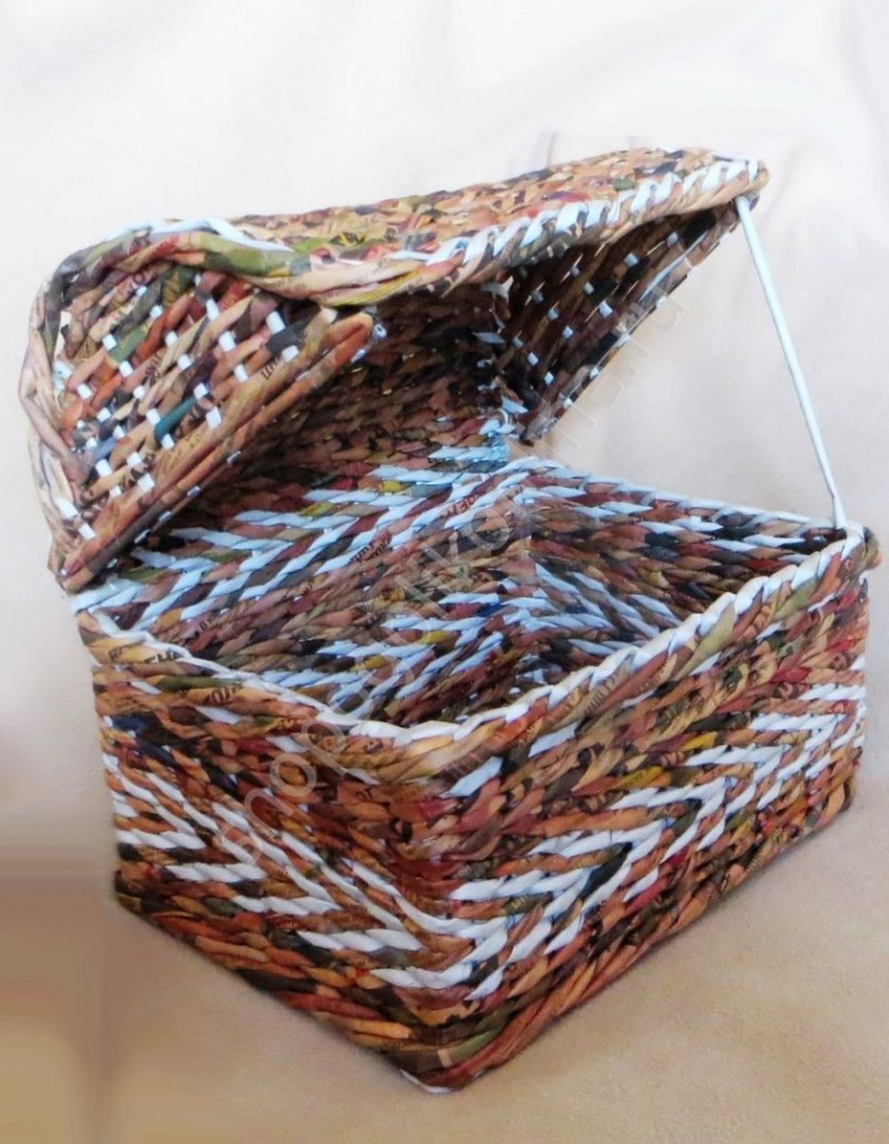 Коробка из газетных трубочек своими руками: описание, пошаговое описание и рекомендации
