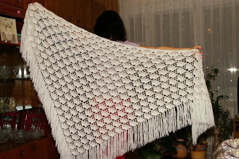 схемы вязания шалей крючком подробное описание как связать простую