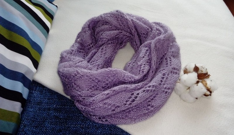 Вязаные спицами шарфы со схемами и описанием