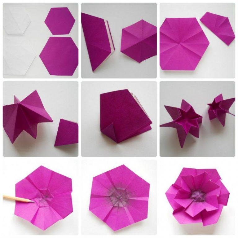 вижу модель цветка из бумаги пошаговое фото этой