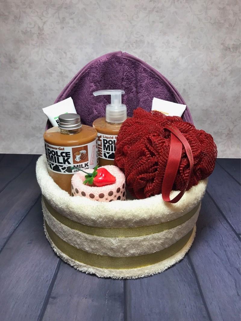поздравление к торту из полотенец видео