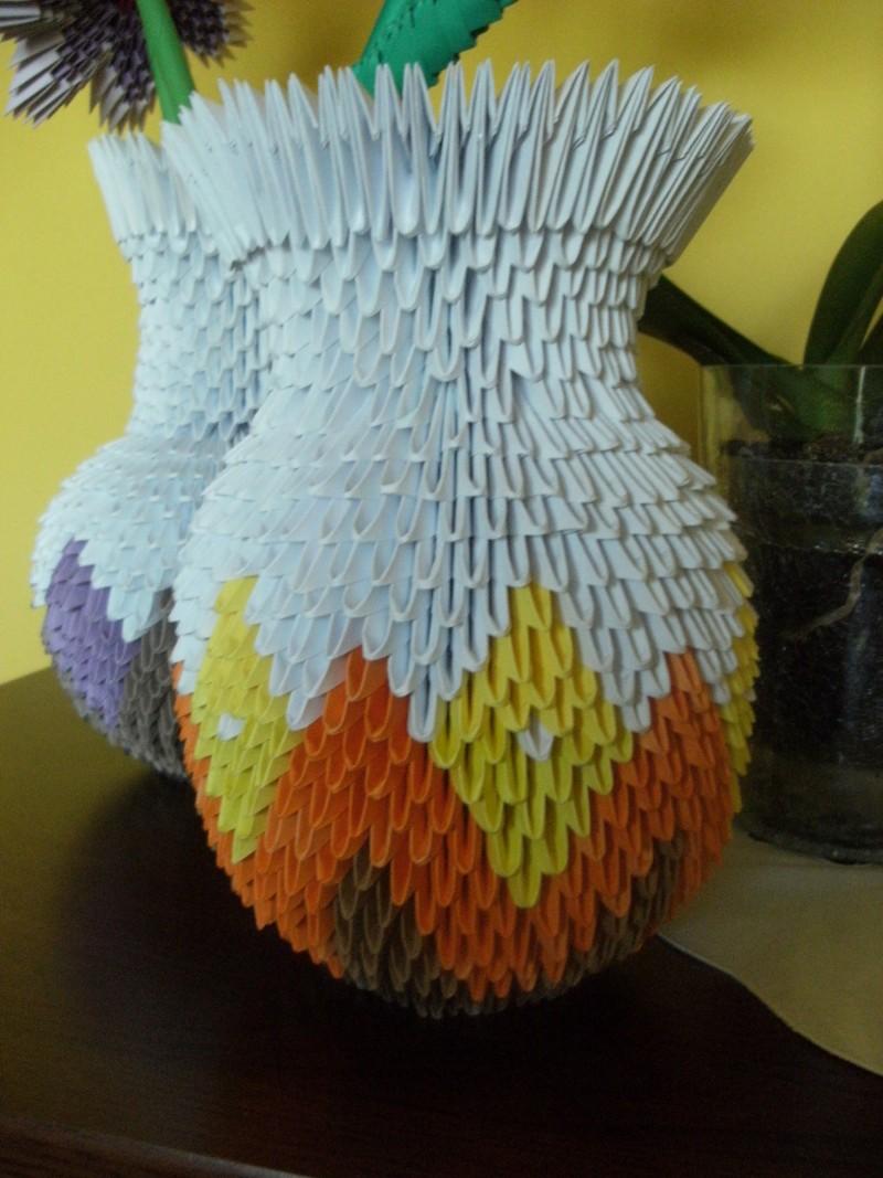Поделка из модулей оригами пошаговая инструкция вазы
