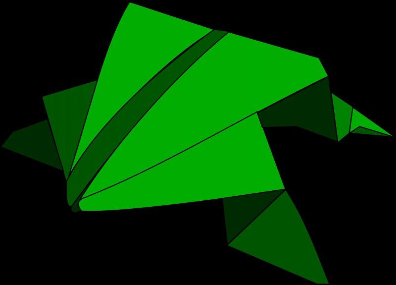 origami-pryigayushhaya-lyagushka-1 Лягушка оригами из бумаги (которая прыгает): схема сборки для детей