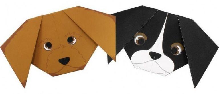Картинка оригами собачка