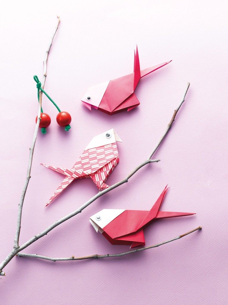 для картинки на тему оригами птица уж